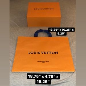 LOUIS VUITTON | LV Box, Shopping Bag, Tissue Paper